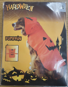 Halloween Pumpkin Dog Costume Pet Fancy Dress Fun Scary Cosplay Party Outfit