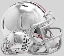 OHIO STATE BUCKEYES NCAA Riddell SPEED Authentic MINI Football Helmet CHROME
