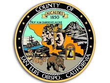 4x4 inch Round COUNTY of San Luis Obispo Seal Sticker -decal logo paso morro slo