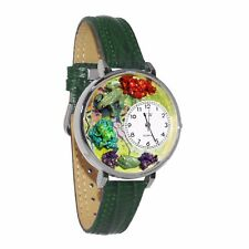 Whimsical Watches Unisex U0140001 Frogs Hunter Green Leather Watch