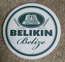 Belize Beer Coaster Mat Used Belikin Mayan Ruin Altun Ha