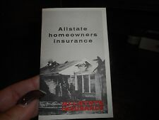 Vintage Allstate Homeowners Insurance Brochure