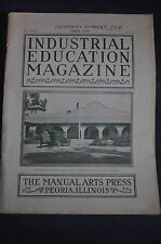 1928 Industrial Education Magazine Machine Tools *Stanley*Rockford*Dixon & More!