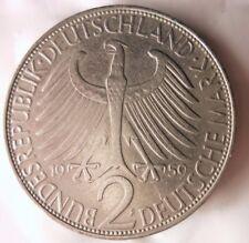 1959 F GERMANY 2 DEUTSCHE MARK - THE KEY DATE/MINT - FREE SHIP - GERMAN BIN #17