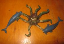 Vintage 1970s/80s rubber Jiggler monster Octopus