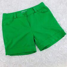 Nike Golf Dri Fit Shorts Girls Youth SZ XL Cuffed Hem 5 Inch Inseam Solid Green