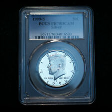 1999 S Kennedy Half Dollar Silver Proof PCGS PR70 Deep Cameo Mint Proof