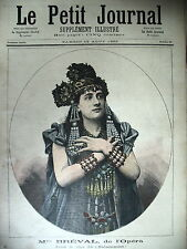 OPERA Mlle BREVAL DANS SALAMMBÔ PRISE DES TUILERIES 1792 LE PETIT JOURNAL 1892