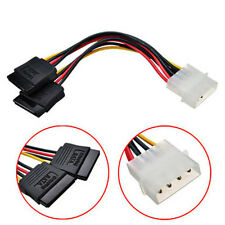 4Pin IDE Molex to 2 Serial ATA SATA Y Splitter Hard Drive Power Supply Cable