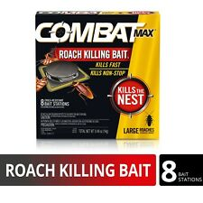 FREE SHIPPING ! COMBAT MAX LARGE ROACH BAIT STATION (8-PACK)