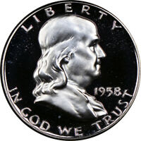 1958 Franklin Half Dollar Choice Proof