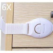 6Pcs Baby Drawer Cupboard Cabinet Door Drawers Lengthened Safety Lock Latch