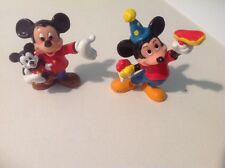 Two Vintage 1970's Walt Disney Productions Mickey Mouse Vinyl Figure Doll