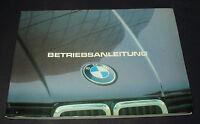 Betriebsanleitung 3er BMW 316 320 i 318 i 323 i E30 Stand August 1982 Handbuch!