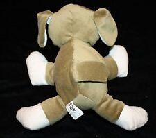"Puli Int'l Dog 8"" Khaki Green Plush Soft Tony Toy White Feet Nose Stuffed"