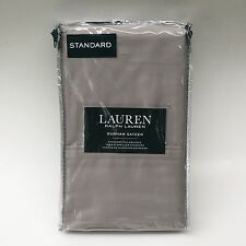 Ralph Lauren 300TC Dunham Sateen Dove Gray Standard Pillow Case Set of 2
