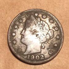 "^ 1902 Liberty ""V"" Nickel     ^^ VERY FINE ^^   116 YRS OLD      3180"