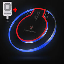 Clear Qi Wireless Fast Charger Pad Charging Dock+Receiver F iPhone 5/6/6s/7 Plus