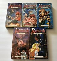 Lot Of 5 Magic Knight Rayearth Anime VHS Tapes Daybreak Sunrise English Dub