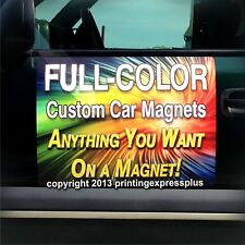 2 - 12x24 Custom Car Magnets Magnetic Auto Truck Signs - Free Design Included!