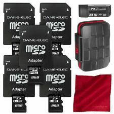 Dane Elec 8GB Micro SD Card/Class 4 Speed (5-Pack) + Xpix 24X Memory Card Case,