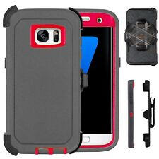 For Samsung Galaxy S7 & S7 Edge Defender Case Cover (Belt Clip fits Otter box)