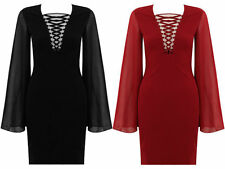 Thigh-Length Unbranded Stretch, Bodycon Dresses for Women