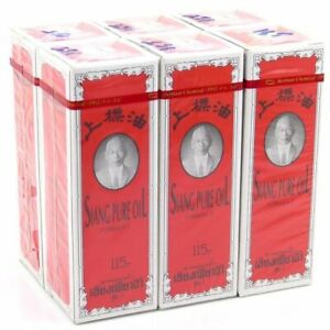 Pack of 6pcs 6x25ml Siang Pure Oil Original Red FormulaHerbal Massage Oil