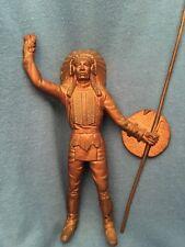 Vintage Native American Indian Metal Figurine Chief Brave Warrior Bronze? Cast
