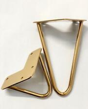 Singular Gold metal hairpin furniture legs