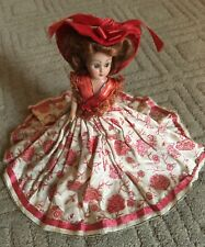 Vintage Victorian doll - 8 inches tall - hard plastic - circa 1960's
