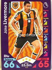 Match Attax 2016/17 Premier League - #117 Jake Livermore - Hull City