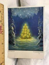 Art Print Card Postcard Hans Stadelmann Weihnachtsbaum im walde Christmas tree