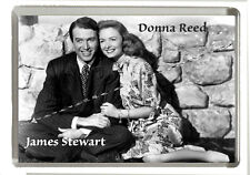 It's a Wonderful Life - James Stewart & Donna Reed - Fridge Magnet 90mm x 60mm