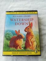 Richard Adams-Watership Down cassette audiobook 4 tapes 5.5 hours abridged Puffi