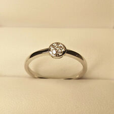 Diamantring 0,08 ct 750er Weissgold Ringgröße 54 Verlobungsring 18 Karat