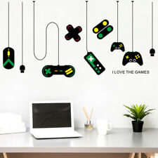 Gamer Vinyl Wall Stickers Video Game Play Room Joystick E Sports Decals Decor