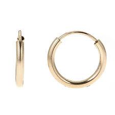 Children's Gold Filled Endless Baby Hoop Earrings 12x2mm
