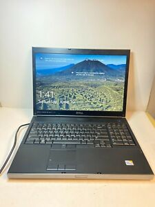 FAST Dell Precision M6400 C2D 4GB RAM 128GB SSD Nvidia FX2700 CDRW Win10