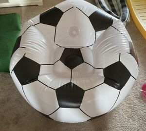 """BESTWAY Large Beanless Inflatable Football Soccer Ball Chair 45"""" X 44"""" X 26"""" New"""