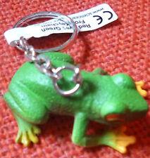 RED EYED GREEN FROG AUSTRALIAN ANIMAL SOUVENIR GIFT KEYCHAIN KEY RING Size 40mm