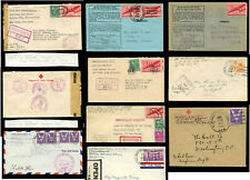 WW2 ARMY POST OFFICES USA FORCES in GB IDENTIFIED OFFICES RED CROSS ENVS etc