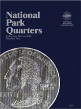 Whitman National Park Quarter Coin Folder Book #2 2016-2021 #2877