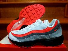 newest edf03 886bc New Mens Nike Air Max 95 Essential White Crimson Running Shoe SZ 9  749766-112