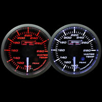 Oil Pressure Gauge-with Peak and Warning Electrical Amber//white Premium Clear Lens White Pointer Series 52mm 2 1//16