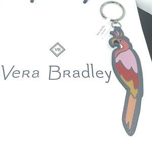 Vera Bradley Parrot Bag Charm Coastal Paradise New