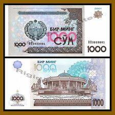 Uzbekistan 1000 Sum, 2001 P-82 Unc