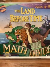 1088) The Land Before Time Math Adventure 1997 Ages 4-8 CD-ROM WIN/MAC