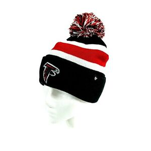 NFL Atlanta Falcons Football Team NFL '47 Primary Logo Knit Beanie Black Red Hat
