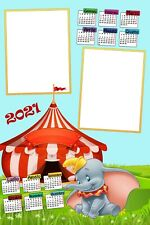 Calendario plastificato a3 personalizzato 2 foto 2021 parete topolino minnie